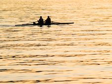 Free Early Morning Rowing. Royalty Free Stock Photography - 6667267