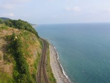 Free Railway And Sea. Stock Image - 6667341