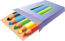 A Set Of Pencils Royalty Free Stock Photo