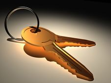 Free Golden Keys Stock Photography - 6668372