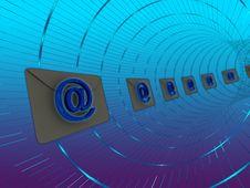 E-mail Tube Post Royalty Free Stock Photo