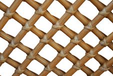 Free Wicker Texture On White Background Royalty Free Stock Photo - 6668715