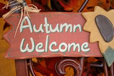 Free Autumn Welcome Sign Stock Photos - 6668783
