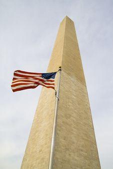 Obelisk In Washington DC Stock Photo