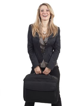 Beautiful Blonde Businesswoman Stock Image