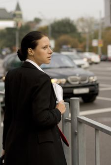 Businesswoman In The Street Royalty Free Stock Photography