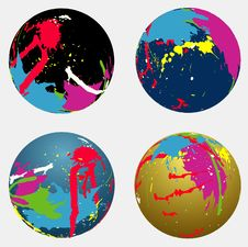 Free Splash Spheres Stock Photo - 6669170