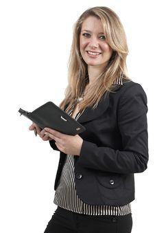 Free Beautiful Blonde Businesswoman Royalty Free Stock Photos - 6669208