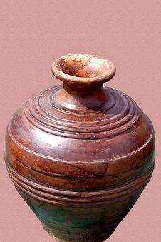Free Handmade Pot From Clay Stock Image - 6669251