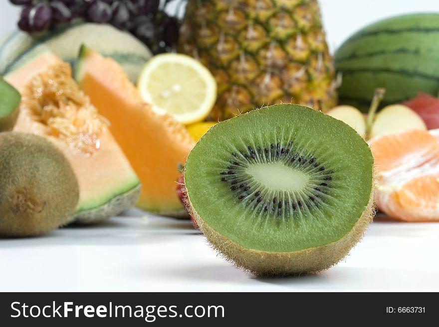 Sliced fresh kiwi