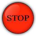 Free Red Stop Button Royalty Free Stock Photography - 6671297