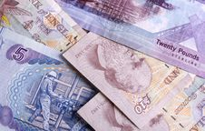 British Currency Notes Stock Image