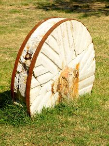 Millstone In The Field Royalty Free Stock Photography