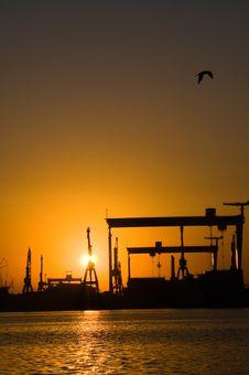 Harbour At Sunset Stock Photos