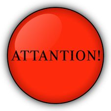 Free Red Button Attantion! Royalty Free Stock Photos - 6671288
