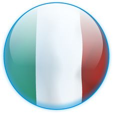 Free Blue Button Flag Italy Stock Photos - 6671623