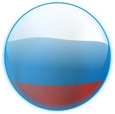 Free Blue Button Flag Russia Royalty Free Stock Photos - 6671628