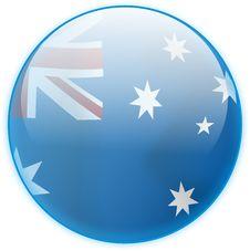Blue Button Flag Australia Stock Photos