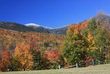 Mount Washington In Fall Royalty Free Stock Photography