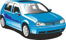Free Blue Volkswagen Rabbit Royalty Free Stock Image - 6671796