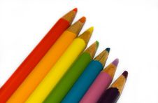 Free Colored Pencils Royalty Free Stock Images - 6671949