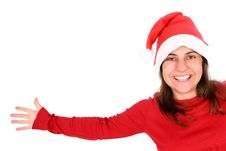 Free Young Woman Celebrating Christmas Holiday Stock Image - 6672131