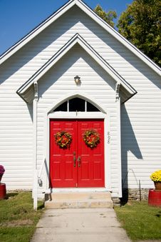 Free Close Up Of Red Church Doors Stock Images - 6672774