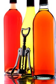 Free Wine Bottles & Corkscrew Stock Photo - 6672980