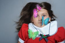 Free Girl And Butterfly Stock Photo - 6673070