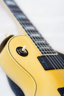 Free Electric Guitar Close Up With Clipping Path Stock Images - 6673114
