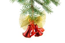 Free Christmas Bell On Fir-tree Royalty Free Stock Photos - 6673378