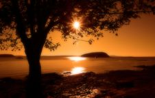 Free Sunset At Bar Harbor Royalty Free Stock Image - 6673726