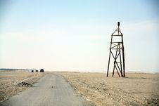 Measurement Tower  Gobi Desert Royalty Free Stock Photo