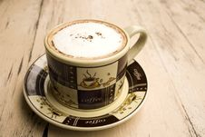Free Cup Of Coffee On Wooden Table Royalty Free Stock Photos - 6674018