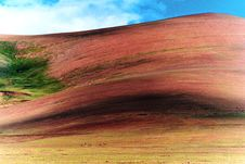 Free Red Mountain And Blue Sky Stock Image - 6674291
