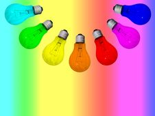 Lamps Rainbow Royalty Free Stock Images