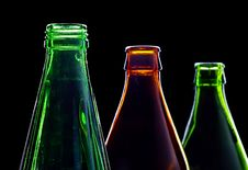 Free Empty Bottles Isolated On Black Royalty Free Stock Photos - 6674758