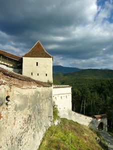 Rasnov Fortress In Transylvania (Romania) Stock Photography
