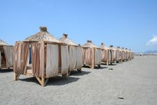 Free Beach Pavilions Royalty Free Stock Photography - 6675677