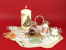 Free Christmas Wicker Decorations Royalty Free Stock Photography - 6675897
