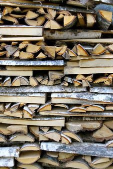 Free Stack Of Birch Firewood Stock Photo - 6676130