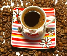 Free Closeup Cup  Of Coffee Royalty Free Stock Images - 6676139