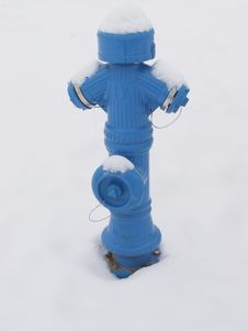 Fire Hydrant In Winter Stock Photos