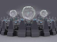 Fantasy Alien Unknown Futuristic Machine Stock Photography