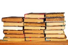 Free Books Stack Isolated Stock Photography - 6677872