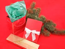 Free Christmas Gift Still Life Stock Image - 6678201