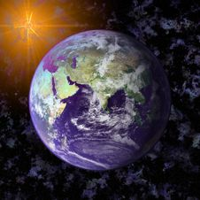 Free Earth Blue Planet In Space Stock Photography - 6679022