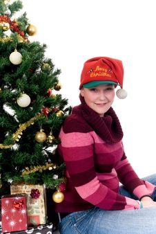 Free Happy Christmas Girl Royalty Free Stock Photos - 6679238