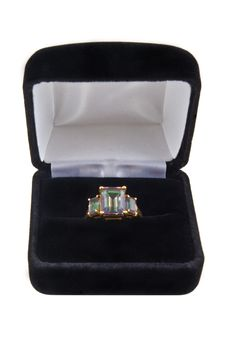 Free Mystic Green Topaz Ring Royalty Free Stock Photo - 6679535