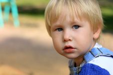 Portrait Of The Serious Child Royalty Free Stock Photos